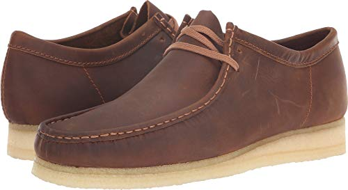 CLARKS Men's Wallabee Moccasin, Beeswax, 95 M US