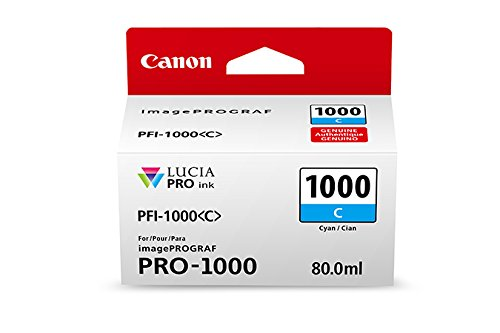 CanonInk LUCIA PRO PFI-1000 Cyan Individual Ink Tank - Lucia Pigment
