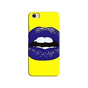 Cover It Up Purple Lips Hard Case For Vivo V5 Plus, Multi Color