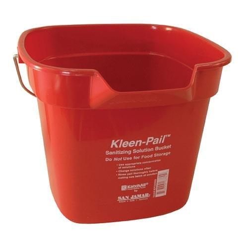 San Jamar 10 Quart Kleen-Pail, Red, Lot of 12 ()