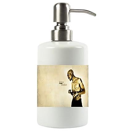 brillent 2 Pac Tupac Amaru Shakur matón Vida blanco brillante sombra en topless fondo Hip Hop