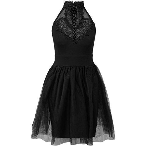 Killstar Robe Patineuse Féminin Noir Noir Noir