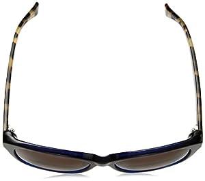 Cole Haan Women's Ch7008 Plastic Cateye Sunglasses, Blue, 57 mm