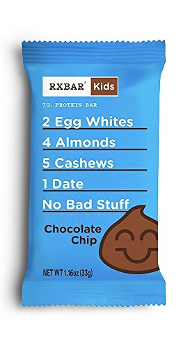 RXBAR Kids Whole Food Protein Bar, Chocolate Chip, 1.16oz Bars, 16 Count