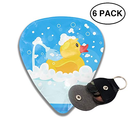 (Celluloid Guitar Picks 3D Printed Rubber Duck Taking A Bath Best Guitar Bass Gift for Gril)