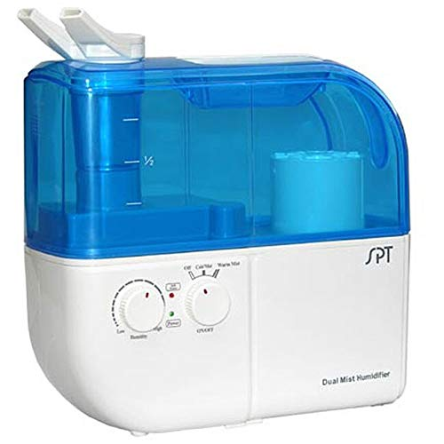(SPT SU-4010 Ultrasonic Dual-Mist Warm/Cool Humidifier with Ion Exchange Filter - Blue)