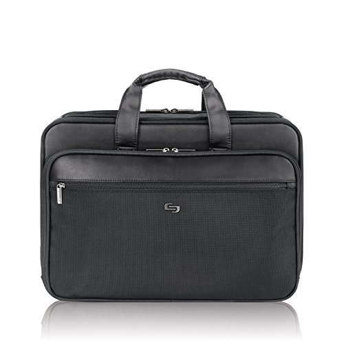 Solo Computer (Solo Paramount 16 Inch Laptop Briefcase with Smart Strap, Black)