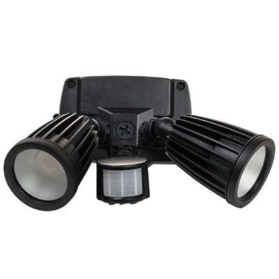 Sunlite LFX/OPF/20W/MS/PC/30K 20-watt 120-volt LED Outdoor PAR Fixture Lamp with Photo Control and Motion Sensor , Warm White