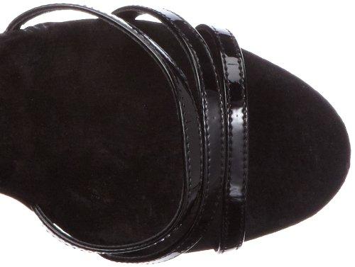 negro tobillo Schwarz Pleaser Tira pat de de 662 blk Blk EU DELIGHT mujer material sintético xwB4avR