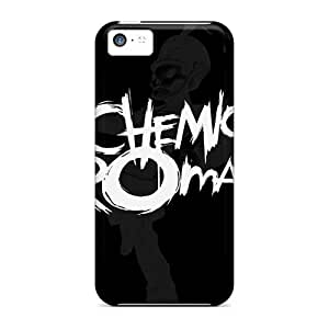 Iphone 5c YqS12847PUIk Support Personal Customs Fashion My Chemical Romance Band Pattern Shock Absorbent Hard Cell-phone Case -CharlesPoirier