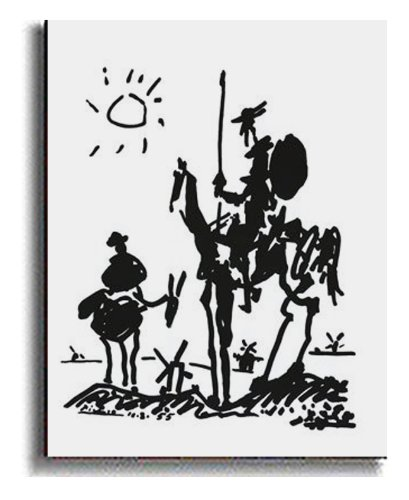 Don Quixote by Picasso Premium Stretched Canvas with Hand-Painted Edging (Ready-to-Hang) (Black)