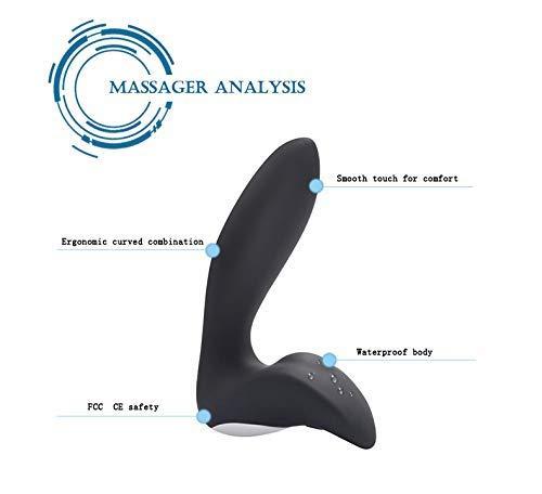 Plswg Wyshjl Masajeador Masajeador Wyshjl vibratorio de estimulación Anal, Vibrador de Masaje de próstata, Juguetes sexuales Adultos de Silicona a Prueba de Agua USB Pareja, Purple, B e8a87e