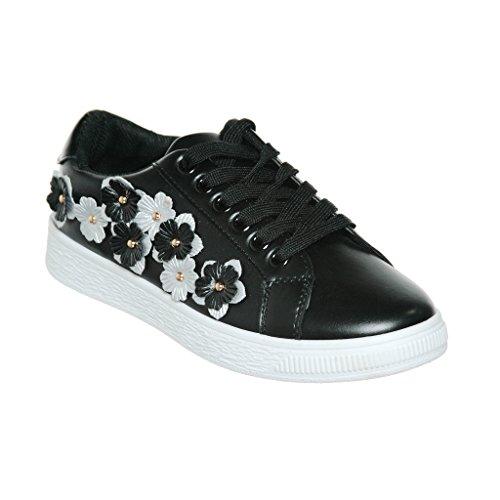 Qualsiasi Nuovo Arrivo !! Womens Graphic Designer Stringate / Slip-on Fashion Sneaker Blackpu