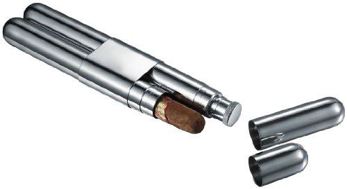 Visol VCASE2008 Rage Stainless Steel Cigar and Flask Holder