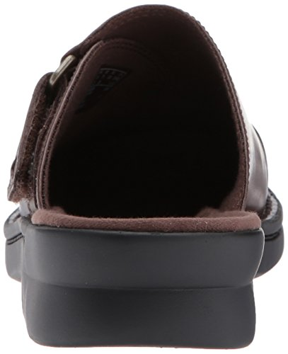 Clarks Womens Patty Nell Mule In Pelle Marrone Scuro