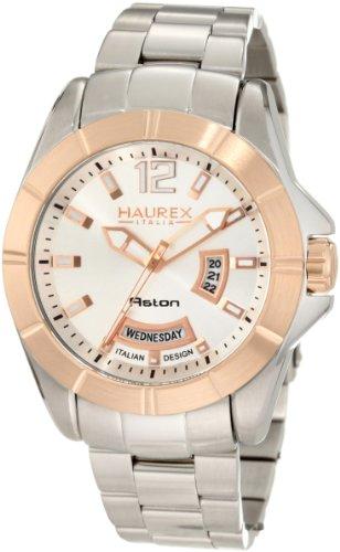 Haurex Italy Men's 7D366USH Aston Stainless Steel Watch - Aston Stainless Watch Steel