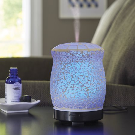 Pack of 2 - Better Homes and Gardens 100 ML Essential Oil Diffuser, Crackle Mosaic