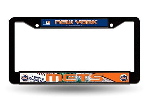 (Rico Industries New York Mets Black Plastic LBL License Plate Frame Tag Cover Baseball)