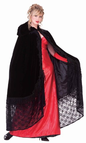 [Forum Novelties Victorian Cape with Lace, Black, One Size] (Count Gothic Costumes)