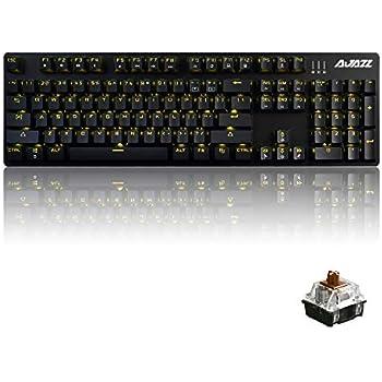 Amazon com: Velocifire VM01 Mechanical Keyboard 104-Key Full