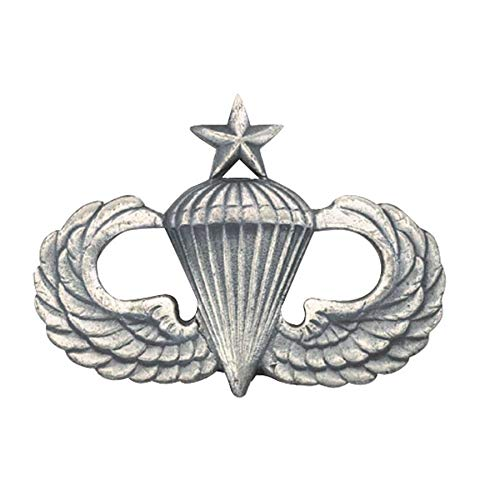 Medals of America Army Senior Parachute Badge Silver Oxide Dress Miniature