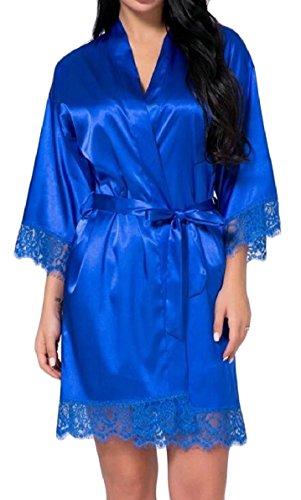 Notte Da D'onore Del Qianqian Raso Delle au Pizzo Lingerie Accappatoi Di Delle 2 Donne Assetto Damigelle Kimono wOT6dn8Iq