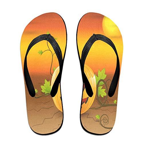 Flip Flops Hallowen Pumpkin Women's Beach Slippers Brazil Sandals For Unisex ()