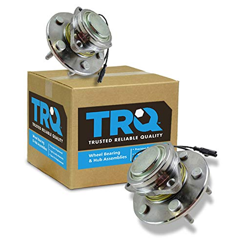 TRQ Front Wheel Hubs & Bearings 6 Lug Left & Right Pair for Chevy GMC 2WD 2x4 (2007 Silverado Hub)