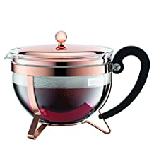 Bodum Chambord Copper Classic Teapot, 44-Ounce
