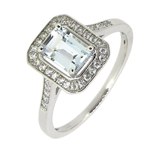 Sterling-Silver-Emerald-Cut-Natural-Aquamarine-Ring-w-Accent-45-CTTW-in-Vintage-Style