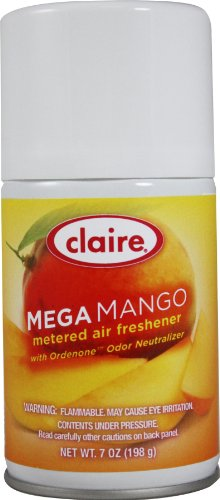 Claire C-116 7 Oz. Marvelous Mango Metered Air Freshener Aerosol Can (Case of 12)