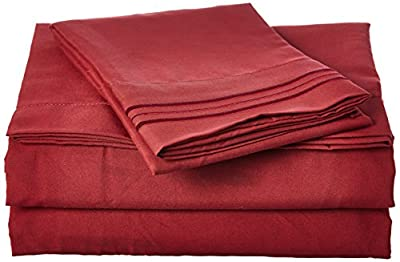 Bed Sheets Set, Highest Quality Bedding Sheets Set on Amazon, Deep Pockets Fitted Sheet, 100% Luxury Soft Microfiber, Hypoallergenic, Cool & Breathable