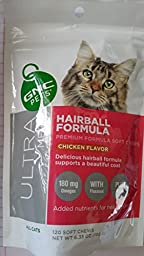 GNC Pets Ultra Mega Hairball Formula for All Cats, Chicken Flavor- 120 Soft Chews