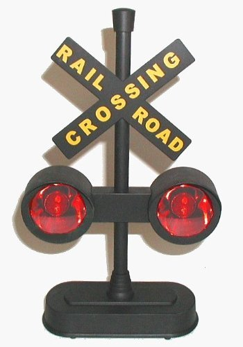 Train Party Decorations (Hayes 15887 Railroad Train / Track Crossing Sign with Flashing Lights and Sounds)