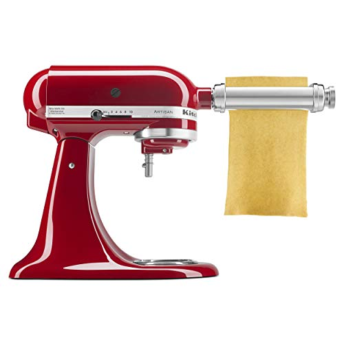 KitchenAid KSMPSA Pasta Roller Attachment, Silver (Mixer Kitchenaid Parts Pasta)