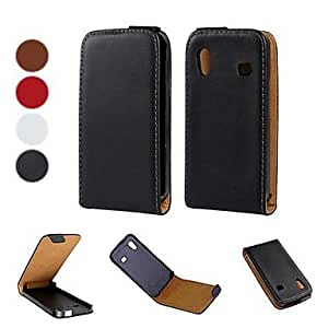 TOPQQ Solid Color Pattern Open Up and Down PU Leather Full Body Case for Samsung Galaxy Ace S5830 (Optional Colors) , Brown