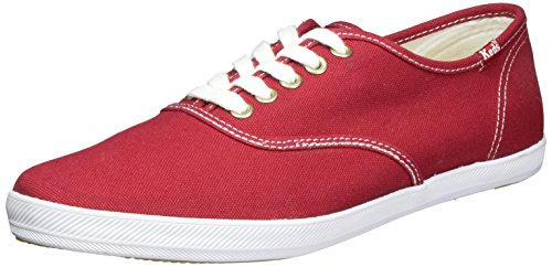 Keds Men's Champion Original Canvas Sneaker,Red,12 M US Canvas Lace Up Shoes