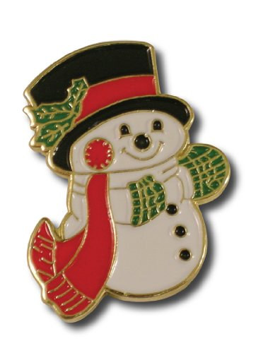 Christmas Snowman Lapel Pin
