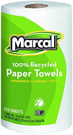 Paper Towels: Marcal Recycled 2-Ply Paper Towels