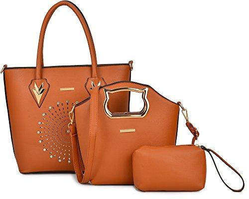 Women Handbag Purse Hobo Faux Leather Messenger Bag Clutch Satchel Bag 3 Piece Gift Set by KasPala