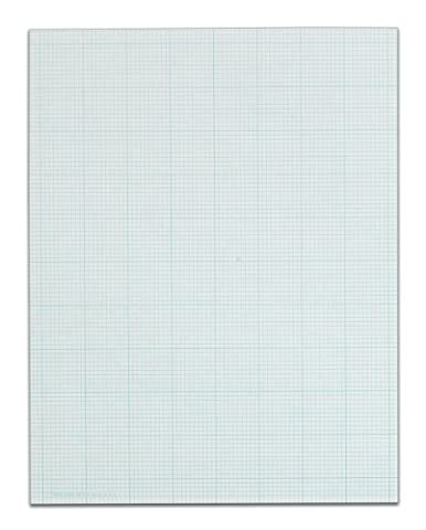 TOPS Cross Section Pad, 1 Pad, 10 Squares/Inch, Quadrille Rule, Letter Size, White, 50 Sheets/Pad, 1 Pad - Graph Pad
