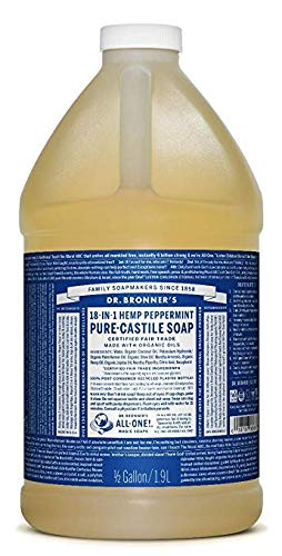 (Dr. Bronner's Pure-Castile Liquid Soap - Peppermint 64oz.)