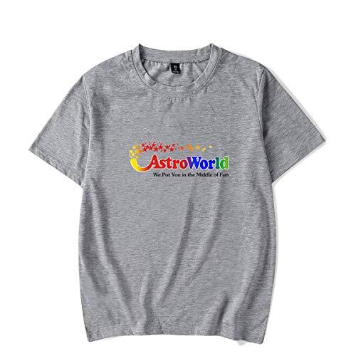 ASTR0W0R1D Hip Hop Unisex Tee Shirts Short Sleeve T-Shirt Top