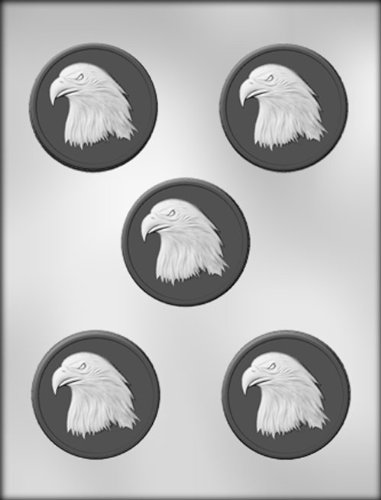 CK Products 2-1/2-Inch Eagle Medallion Chocolate Mold Card Chocolate Mold Soap