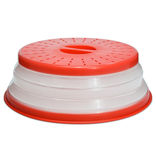 (Microwaveable Collapsible Food Cover (Red Food)