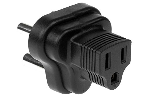 SF Cable, 3 Prong Plug Adapter, South Africa/India to NEMA 5-15R USA (BS546/SABS164) (South African Plug compare prices)