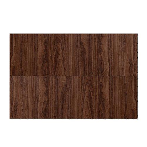 "Swisstrax ¾"" thick Interlocking ""Hardwood"" Floor Tiles (3' x 4' Section) - Dance Floors, Office Areas, Event Floors & more! (Medium Maple)"