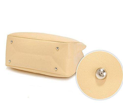 Eysee - Bolso de tela de Piel Sintética para mujer amarillo claro