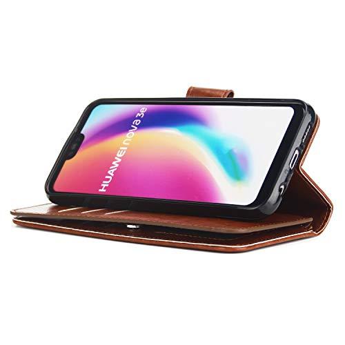 et Couches pour Poche Carte tui Dragonne Or Housse Case P20 9 Cuir 3 Marron Flip P20 Coque Grand Supporter Huawei Huawei Yobby Stand Classique Portefeuille Slots avec Dtachable AXqIg6xw