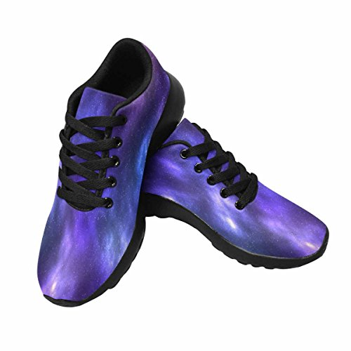 Interessante Womens Jogging Running Sneaker Leggero Go Easy Walking Comfort Sport Scarpe Da Corsa Galaxy Space Con Nebulosa Star Field Multi 1